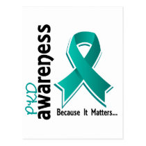 PKD Awareness 5 Polycystic Kidney Disease Postcard