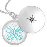 PKD Butterfly Inspiring Words Necklace