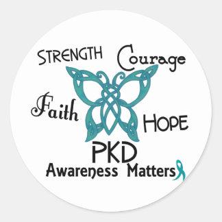 PKD Celtic Butterfly 3 Classic Round Sticker