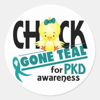PKD Chick Gone Teal 2 Classic Round Sticker