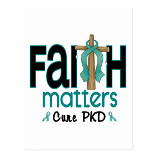 PKD Faith Matters Cross 1 Postcard
