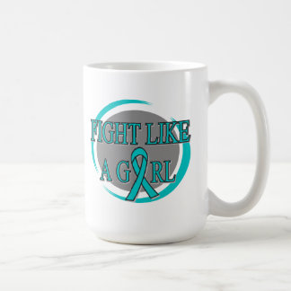 PKD Fight Like A Girl Circular Coffee Mugs