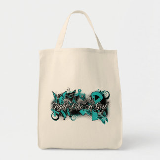 PKD  Fight Like A Girl Grunge Butterfly Grocery Tote Bag