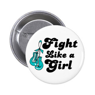PKD Fight Like A Girl Motto 2 Inch Round Button