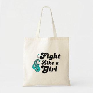 PKD Fight Like A Girl Motto Budget Tote Bag
