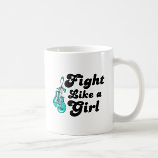PKD Fight Like A Girl Motto Classic White Coffee Mug