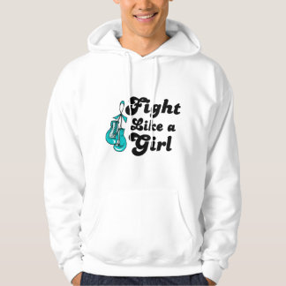 PKD Fight Like A Girl Motto Hooded Pullovers