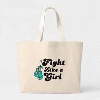 PKD Fight Like A Girl Motto Jumbo Tote Bag