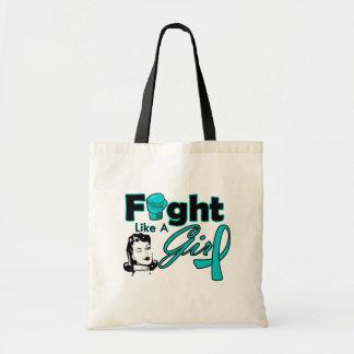 PKD Fight Like A Girl - Retro Girl Budget Tote Bag
