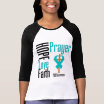 PKD Hope Love Faith Prayer Cross T-Shirt