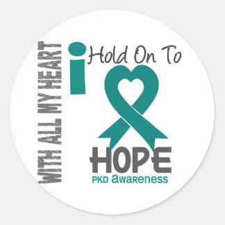 PKD I Hold On To Hope Round Sticker