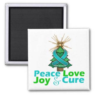 PKD Peace Love Joy Cure 2 Inch Square Magnet