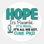 PKD Polycystic Kidney Disease HOPE 1 Round Stickers