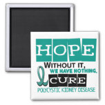 PKD Polycystic Kidney Disease HOPE 2 2 Inch Square Magnet