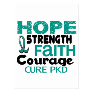 PKD Polycystic Kidney Disease HOPE 3 Postcard