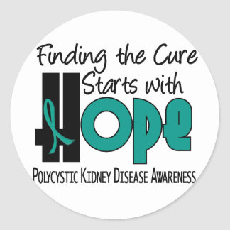PKD Polycystic Kidney Disease HOPE 4 Classic Round Sticker