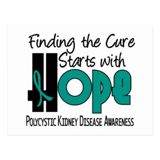 PKD Polycystic Kidney Disease HOPE 4 Postcard