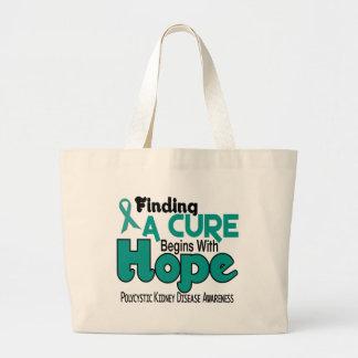PKD Polycystic Kidney Disease HOPE 5 Large Tote Bag