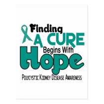PKD Polycystic Kidney Disease HOPE 5 Postcard