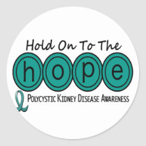 PKD Polycystic Kidney Disease HOPE 6 Classic Round Sticker