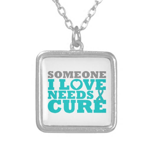 PKD Someone I Love Needs A Cure Square Pendant Necklace