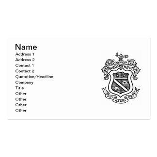 PKP Crest Black Business Card Template