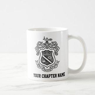 PKP Crest Black Classic White Coffee Mug