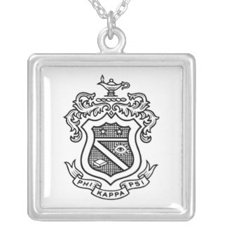 PKP Crest Black Personalized Necklace