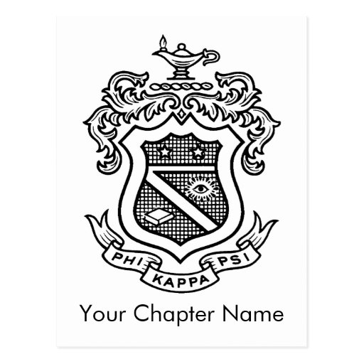 PKP Crest Black Post Card
