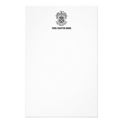 PKP Crest Black Stationery Paper