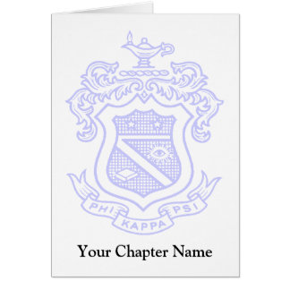 PKP Crest Watermark Stationery Note Card