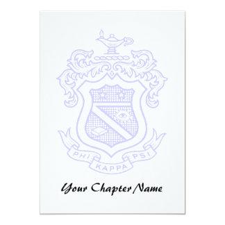 PKP Crest Watermark 5x7 Paper Invitation Card