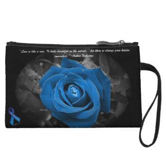 PKU Awareness Blue Rose Quote Mini Cluth Wristlet Wallet