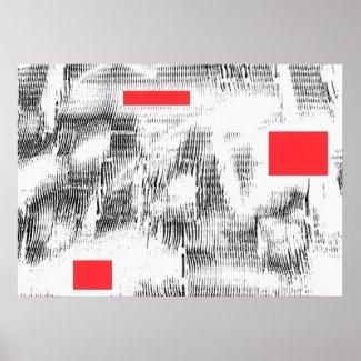 PL#103026 3 Red MarkyArt Original Limited Edition Poster