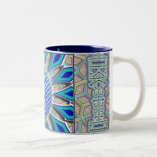 Pla.net eARTh coffee cup Two-Tone Coffee Mug