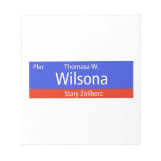 Plac Thomasa W. Wilsona, Varsovia, Sig polaco de l Libreta Para Notas