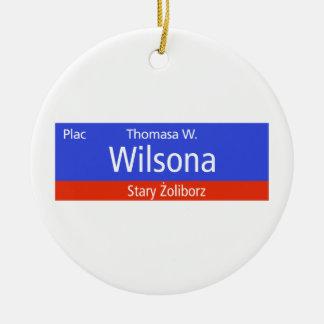 Plac Thomasa W. Wilsona, Varsovia, Sig polaco de l Ornamentos Para Reyes Magos