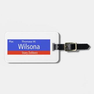 Plac Thomasa W. Wilsona, Varsovia, Sig polaco de l Etiquetas Para Equipaje
