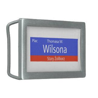 Plac Thomasa W. Wilsona, Varsovia, Sig polaco de l Hebilla Cinturón Rectangular