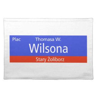 Plac Thomasa W. Wilsona, Varsovia, Sig polaco de l Mantel Individual