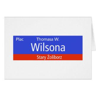 Plac Thomasa W. Wilsona, Varsovia, Sig polaco de l Tarjeta