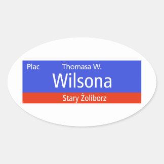 Plac Thomasa W. Wilsona, Varsovia, Sig polaco de Calcomanía Óval Personalizadas