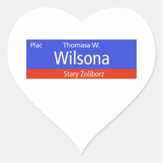 Plac Thomasa W. Wilsona, Varsovia, Sig polaco de Calcomania De Corazon