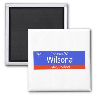 Plac Thomasa W Wilsona Warsaw Polish Street Sig Magnets