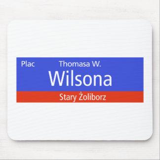 Plac Thomasa W. Wilsona, Warsaw, Polish Street Sig Mouse Pad
