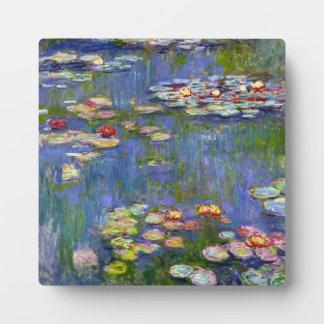 Placa 1916 de los lirios de agua de Monet