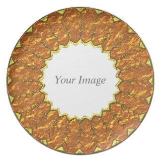Placa 1 de la acción de gracias platos para fiestas