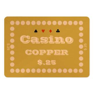 Placa $.25 (100ct) de la ficha de póker del ~COPPE Plantillas De Tarjeta De Negocio