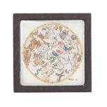 """Placa 26 del """"atlas Coelestis"""", por Juan Flamsteed Cajas De Joyas De Calidad"""