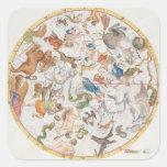 """Placa 26 del """"atlas Coelestis"""", por Juan Flamsteed Calcomania Cuadrada Personalizada"""